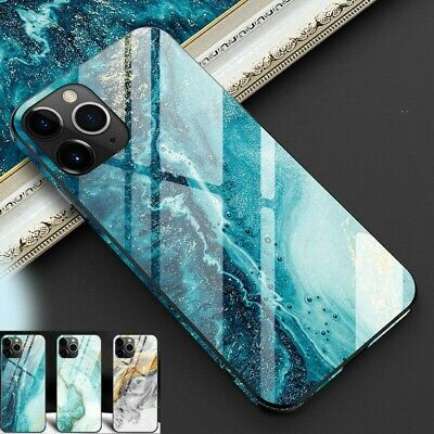Luxury Marble Tempered Glass Hard Case Cover Film For Apple iPhone 11 Pro Max