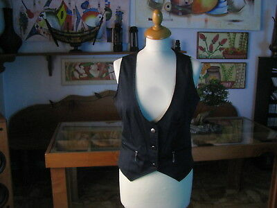 Wonderful Woman Vest Midnight Blue Size L - Made in Italy