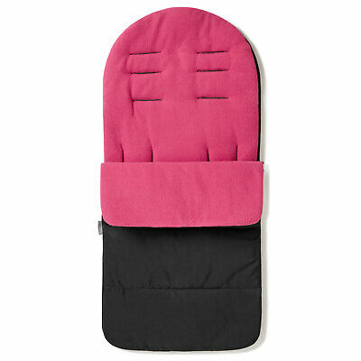Premium Pushchair Footmuff / Cosy Toes For Maclaren Twin Triumph - Pink Rose