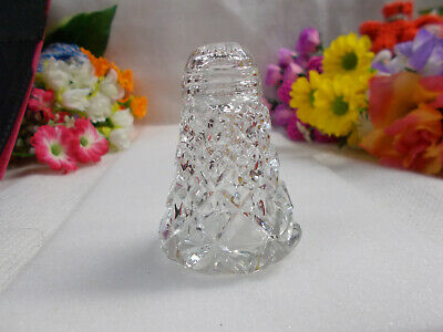 LOVELY CRYSTAL SALT SHAKER - SCREW TOP LID - 7 cm HIGH GC # 450