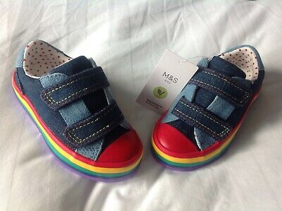 Baby boy casual shoes. size 5. BNWT. Velcro fasteners. M & S