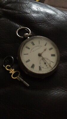 solid silver antique pocket watch.