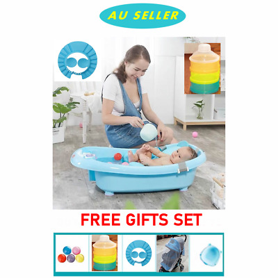 Extra Large Baby Toddler kids Bath Tub Support Seat Thermometer Bathtub Shower