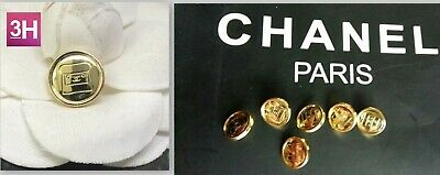 Chanel  buttons  set of 6 sz 12 mm lot of 6  GOLD CC