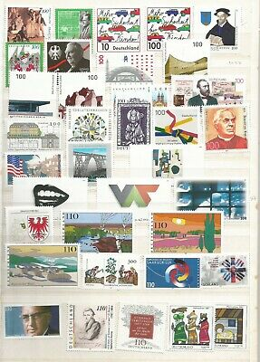 Germany Commemorative 1997 Unmounted Mint Stamps Not full Year