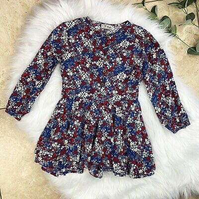 Girls NEXT Floral Culotte Playsuit Jumpsuit Flare Skirt Blue Red Ivory Age 4-5