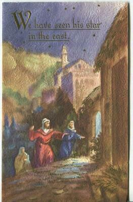 Vintage Christmas Bethlehem Israel Holy Land Shepherds Birth Christ Greetng Card
