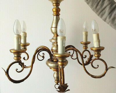 Vintage Chandeliers and Matching Wall Sconces: 7 Pieces