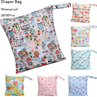 Waterproof Baby Nappy Reusable Washable Wet Dry Cloth Zip Diaper Swimmer Bag