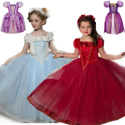 Kids Fancy Dress Costume  Snow White CINDERELLA Halloween Christmas Party