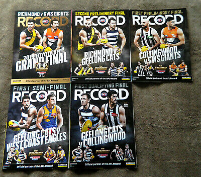 2019 Afl Finals Series Records Magazines Richmond, Geelong, Collingwood, Gws