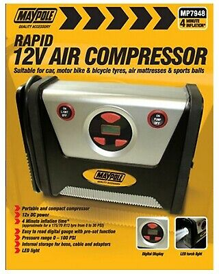 Compressor Rapid 12v 7948 Maypole Genuine Top Quality Product New