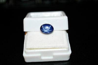 100% Natural Star Blue Sapphire Oval Shape Cabochon Stone 5 ct Excellent Luster