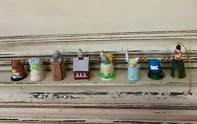 Vintage and Collectible Thimbles, Set of 8
