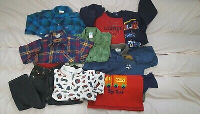 Vintage Lot of Boys 4T Tommy H. Jeans OshKosh & Old Navy Shirts Fall Winter EUC