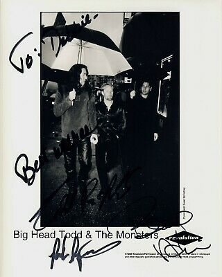 BIG HEAD TODD & THE MONSTERS to Debbie b/w 8x10 hand-signed autographed photo