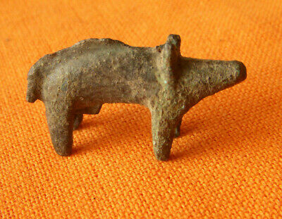 A336. Celtic style bronze boar figurine.