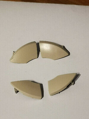 fiat 500 radio cd button buttons ivory white cream trim mould cover removal 4pcs