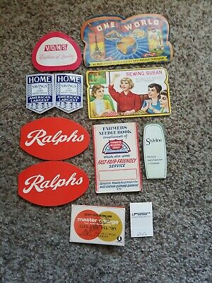 Mixed Lot of Vintage Advertising Sewing Needle Books *SOME MISSING NEEDLES*