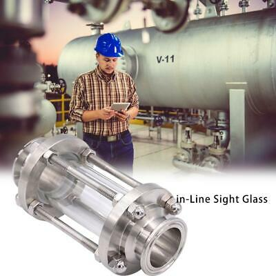 In-Line Sight Glass 304 Stainless Steel Flow Straight Sight Glass for Liquids Ga