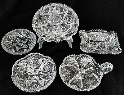 "Crystal Bowls, American Brilliant Cut Glass, Lot of 6, 4.75 - 7"" PRICED EACH"