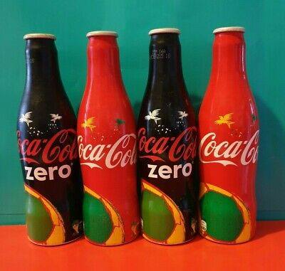 COCA COLA COKE ZERO Fifa World Cup aluminium bottles Full and sealed