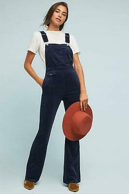 Pilcro and The Letterpress Navy Blue Corduroy Dungarees Overalls size 30inch #15