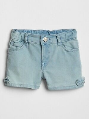 NWT BABY GAP GIRLS  SHORTS denim jeans bows   u pick size