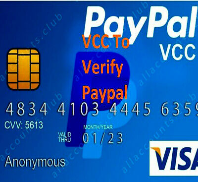 Virtual Credit CARD $2 Balance For paypal verification  VCC World Wide