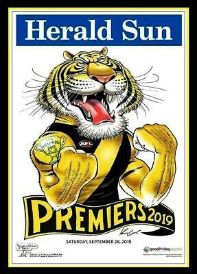 2019 Afl Premiers Grand Final Richmond Tigers Premiership Weg Knight Poster