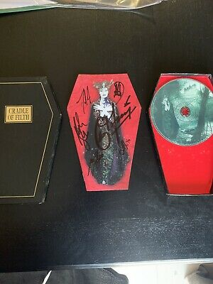 Cradle Of Filth Autographed Dusk And Her Embrace Coffin Edition