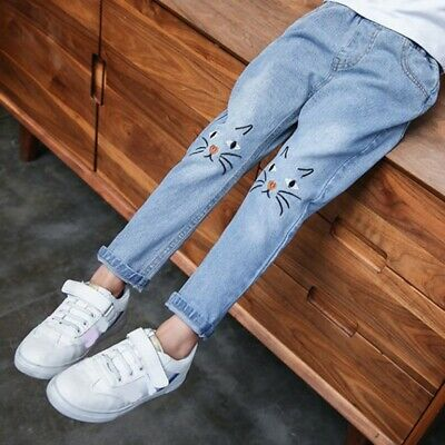 Girls Jeans Baby Girl Boutique Clothes Fall Denim Pant Teenagers Long Trousers