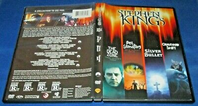 The Stephen King Collection (4-Disc DVD, 2013) Dead Zone PET SEMATARY Si Bullet+