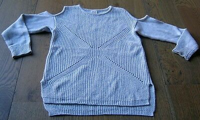 Seed Teen Girls Cotton Blend Silver Jumper  Sz 10
