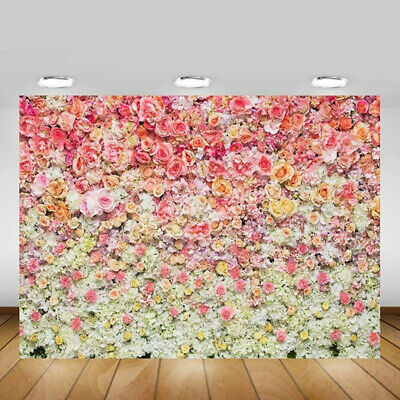 Colorful Rose Flower Sea Studio Wall Wedding Photography Backdrop Background