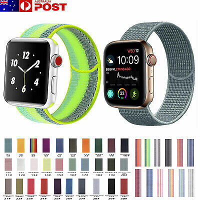 For Apple Watch Series 5/4/3/2/1 Band Nylon Watch Strap Sports Loop iWatch Band