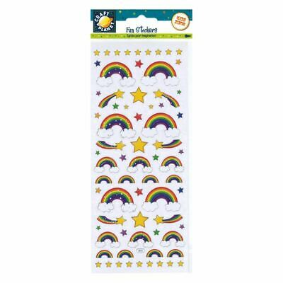 Rainbows & Stars Stickers - Shooting Stars, Clouds Multicoloured Rainbow Arches