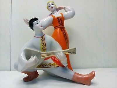 Ancient porcelain figurine of the USSR - Dances and songs. rare.weight - 378gram