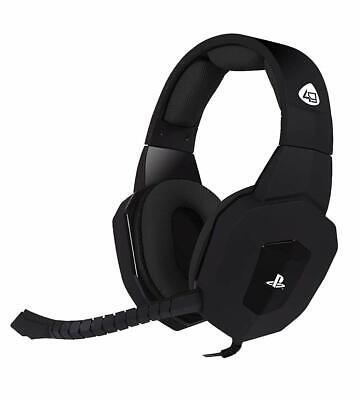 Playstation 4 Premium Gaming Headset + Mic Control 4Gamers Pro4-80 Black Ps4 Pc