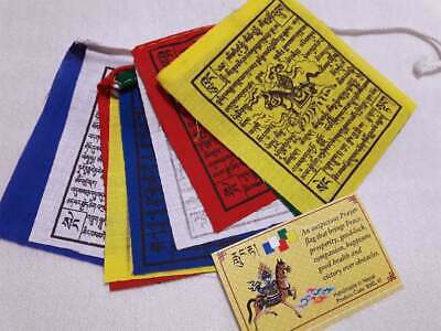 Mini Prayer Flags Lungtan , Brings Peace,Prosperity,Compassion,Happiness