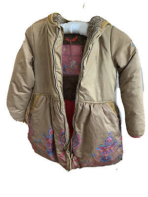 Girls Oilily Dusty Gold Winter Duffle Coat - Age 8