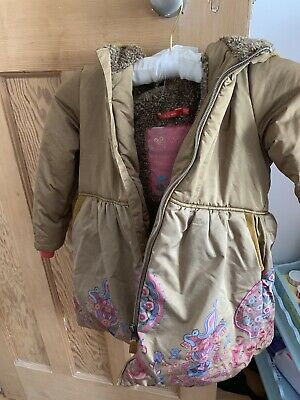 Girls Oilily Dusty Gold Winter Duffle Coat - Age 5