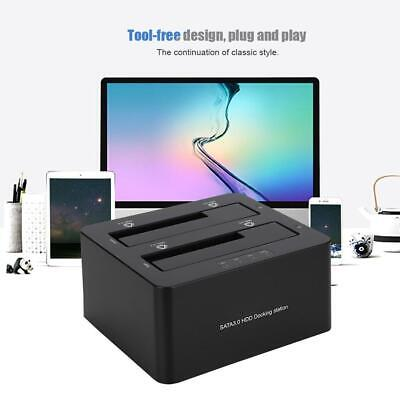 """ORICO Dual Bay USB 3.0 Docking Station for 2.5"""" 3.5"""" SATA Drive SSD HDD Holder"""