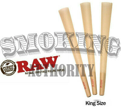 50 Pack🔥 RAW Classic Cones King Size Authentic Pre-Rolled Cones w/ Filter🔥