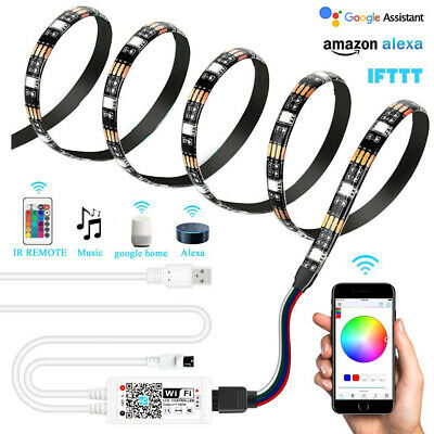 USB Powered RGB 5050 IP65 5V Waterproof LED Strip Light with Wifi Remote Control