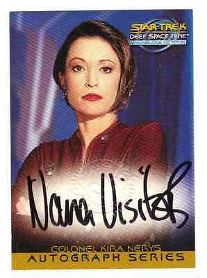 Star Trek Deep Space 9 Nana Visitor Autograph A4  As Kira Nerys