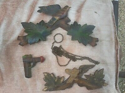 Vintage cuckoo clock parts... spares-used great lot