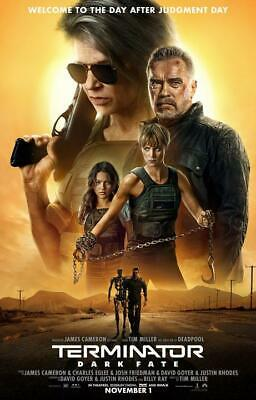 "Terminator Dark Fate Poster James Cameron 2019 Movie Print 13×20"" 24×36"" 32×48"""