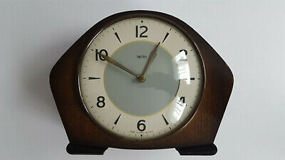 Smiths Enfield 1950s Mid Century Oak Cased Antique Vintage Mantel Clock