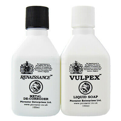 VULPEX Liquid Soap 100ml & RENAISSANCE Metal De-Corroder 100ml - Bundle Pack